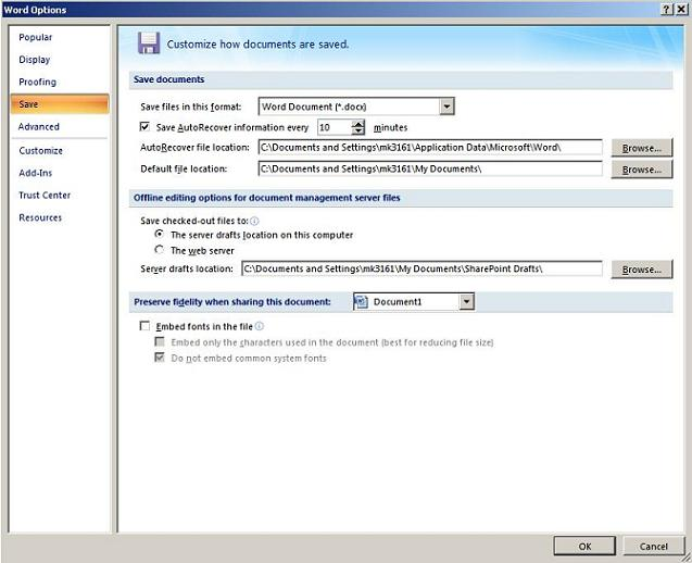 How To Change Microsoft Office Default Save Locations