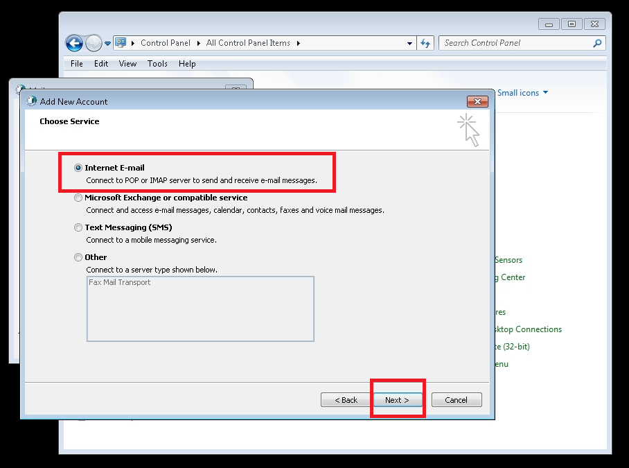 Creating A New Outlook Profile For Mail Merge Use (Office