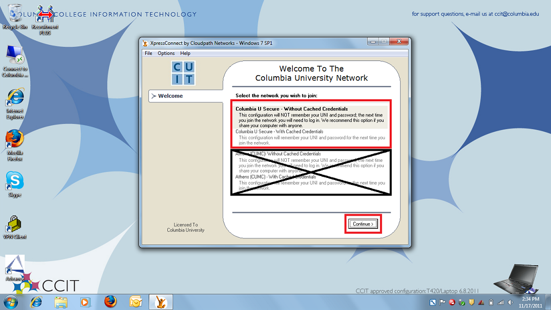 How to Connect to the Columbia U Secure Wireless Network   Columbia