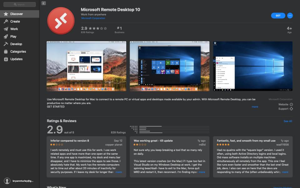 Microsoft Remote Desktop in the Mac App Store